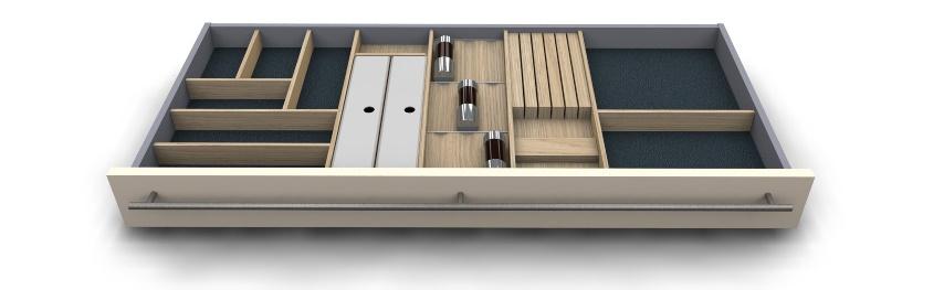 Holz Besteckeinsatz variabel modern
