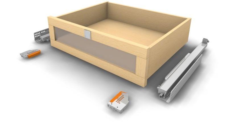Holz Schublade Glasfrontauszug