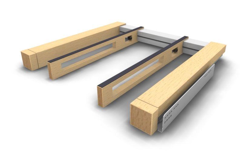 Hängeauszug aus Holz