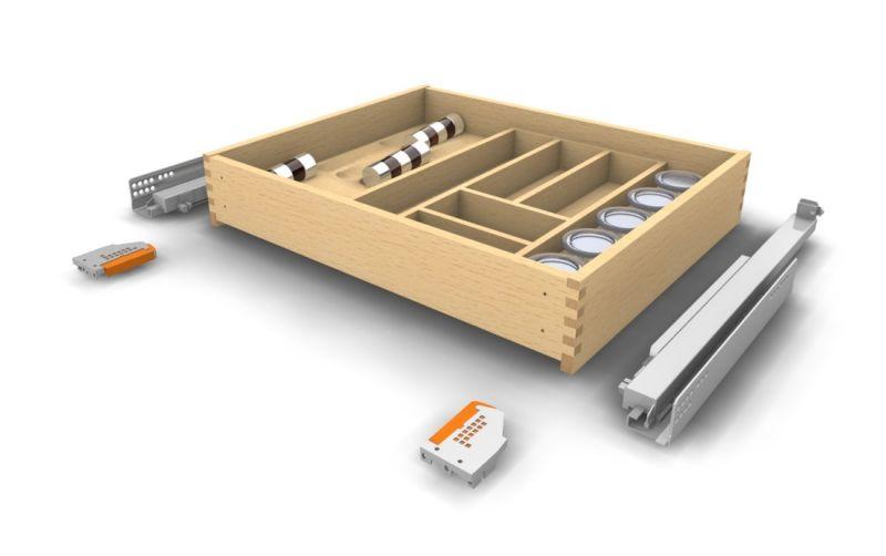 Holz Schublade nach Maß mit Besteckeinsatz