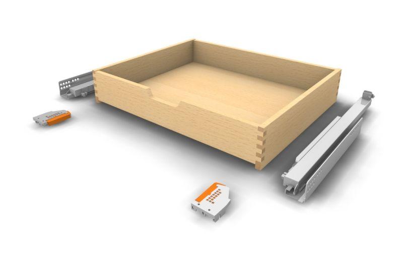 Holz Schublade Innenauszug mit Griffausfräsung