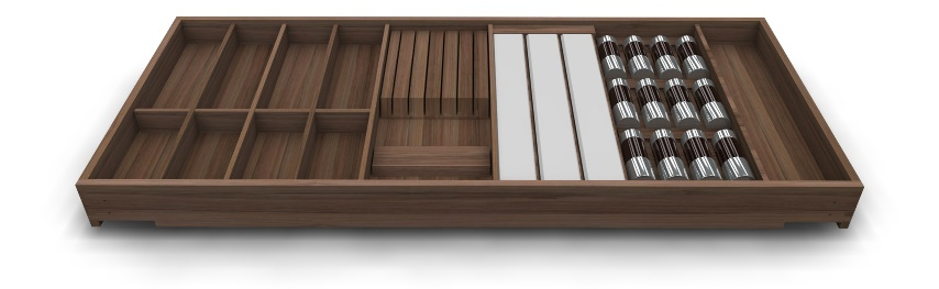 Holz Besteckeinsatz variabel