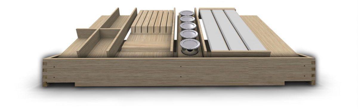 variabler Besteckeinsatz aus Holz
