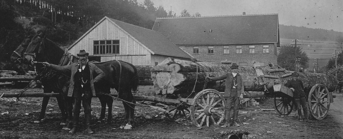 Holzanlieferung